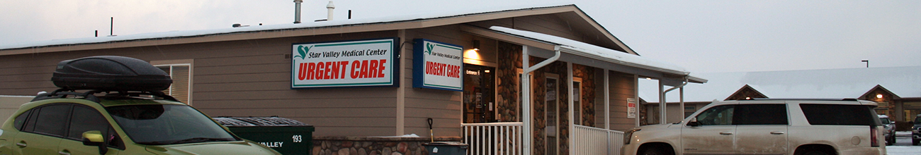 Header image of the Star Valley Health Urgent Care building