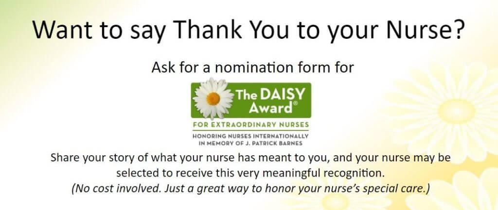 The Daisy Award for Extraordinary Nurses