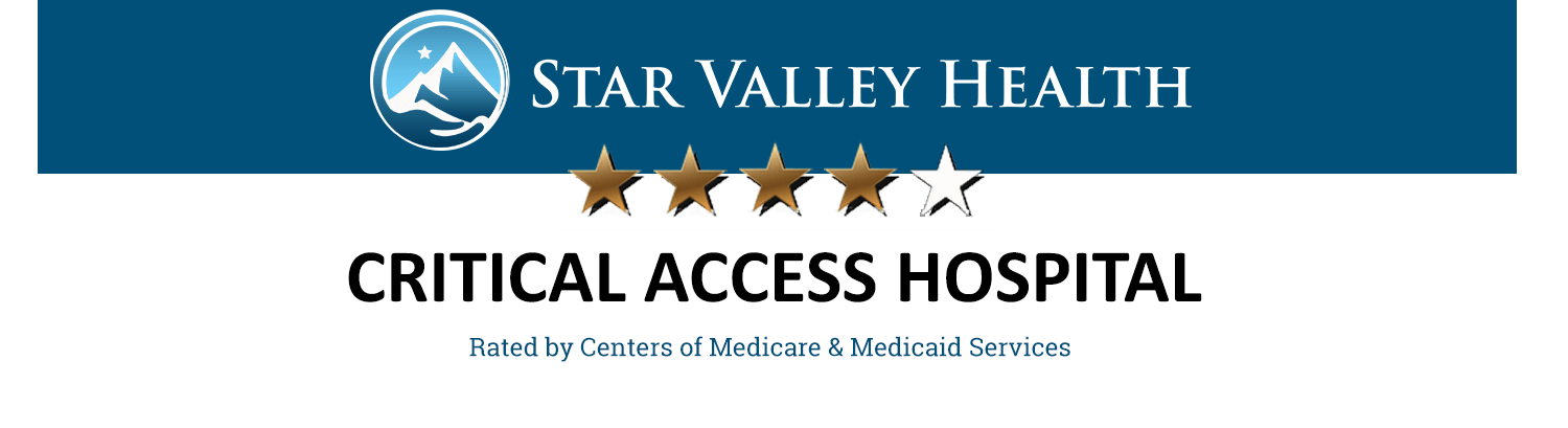 Star Valley Health is a 4-Star Critical Access Hospital rated by Centers of Medicare & Medicaid Services