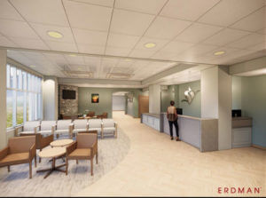 lobby of the new Alpine expansion project at Star Valley Health